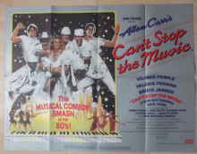 Cant Stop the Music, Original UK Quad Poster, Village People, Valerie Perrine 80